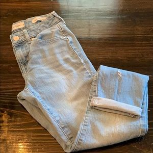 Jessica Simpson forever rolled skinny jeans